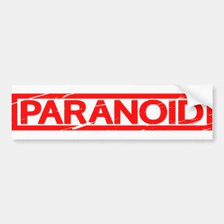 Paranoide Briefmarke Autoaufkleber