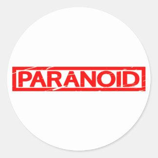 Paranoide Briefmarke Runder Aufkleber