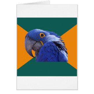 Paranoides Papageien-Vogel-Ratetier Meme Grußkarten