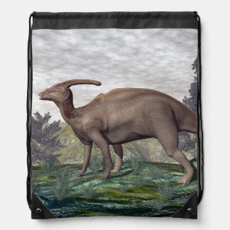 Parasaurolophus Dinosaurier - 3D übertragen Turnbeutel