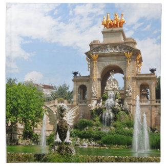 Parc de la Ciutadella in Barcelona Stoffserviette