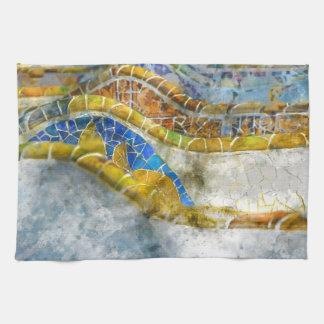 Parc Guell Bank-Mosaiken in Barcelona Spanien Handtuch