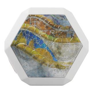 Parc Guell Bank-Mosaiken in Barcelona Spanien Weiße Bluetooth Lautsprecher