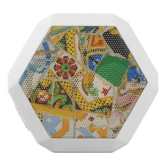 Parc Guell gelbe Keramik-Fliesen in Barcelona Weiße Bluetooth Lautsprecher