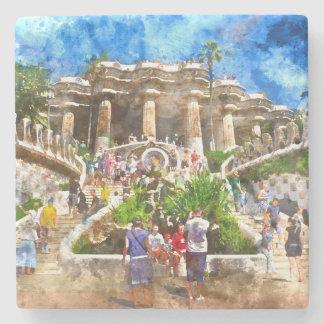 Parc Guell in Barcelona Spanien Steinuntersetzer