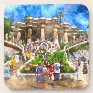 Parc Guell in Barcelona Spanien Untersetzer