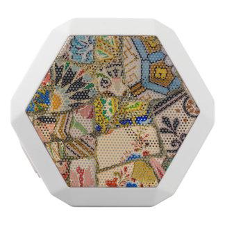 Parc Guell Keramik-Fliese in Barcelona Spanien Weiße Bluetooth Lautsprecher