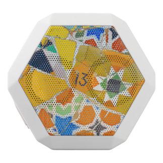 Parc Guell Keramik-Fliesen in Barcelona Spanien Weiße Bluetooth Lautsprecher