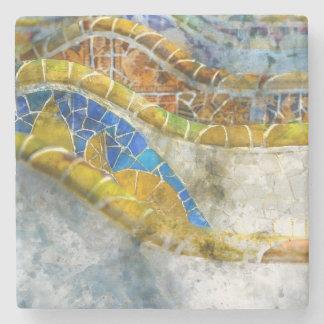 Parc Guell Mosaik-Bänke in Barcelona Spanien Steinuntersetzer