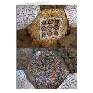 Parc Guell Regenbogen-Mosaik Karte
