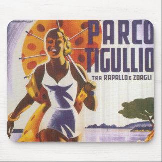 Parco Tgullio Vintages Reise-Plakat Mousepad