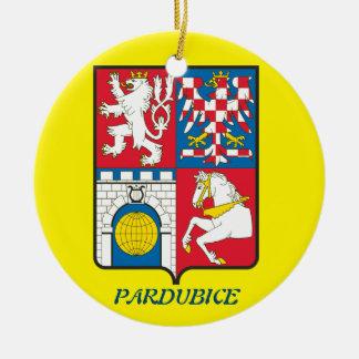 Pardubice tschechische Keramik-Verzierung Rundes Keramik Ornament