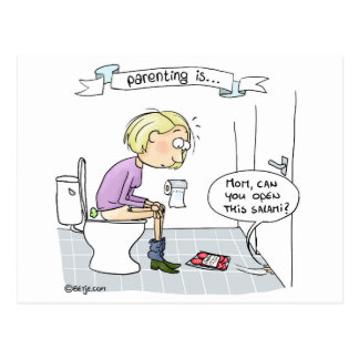 Parenting… bohrt nie postkarte