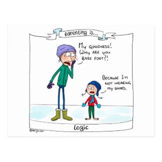 Parenting ist… Logik Postkarte