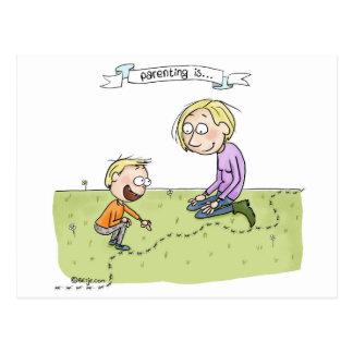 Parenting… schätzt das Üblichen Postkarte