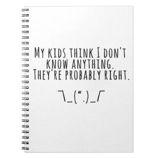 Parenting-Wahrheiten Spiral Notizblock