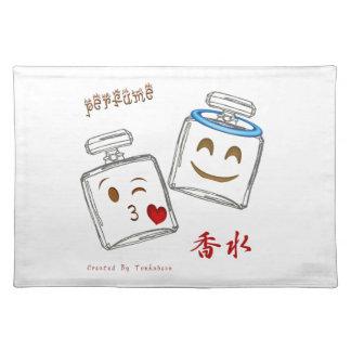Parfümflasche Emoji Stofftischset