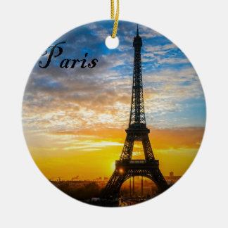 Paris-Ausflug Eiffel im Sonnenuntergang (St.K) Keramik Ornament