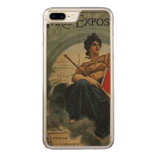 Paris-Ausstellung 1900 - Vintage französische Carved iPhone 8 Plus/7 Plus Hülle