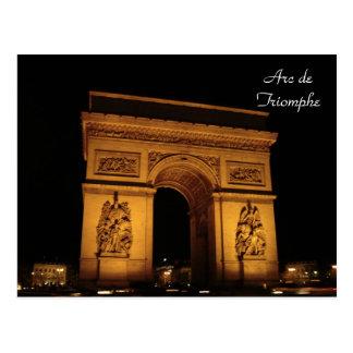 Paris-Beleuchtungen: Der Arc de Triomphe Postkarte