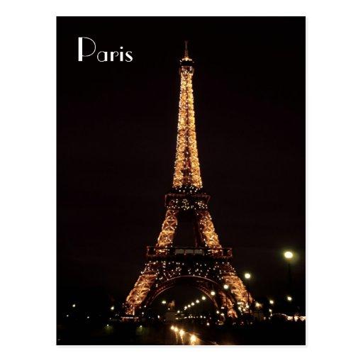 Paris-Beleuchtungen: Der Eiffelturm Postkarte