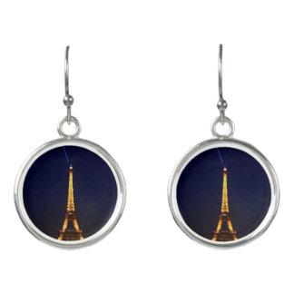 Paris bis zum Nacht die Eiffelturm-Ohrringe Ohrringe