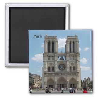Paris - Cath�drale Notre-Dame - Quadratischer Magnet