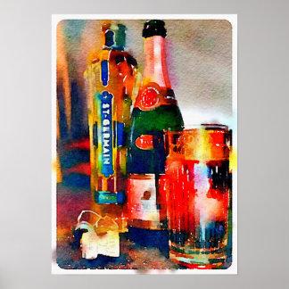 PARIS, Cocktail-Stunden-Plakat Poster