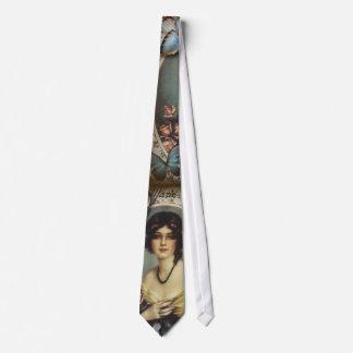 Paris-Dame Mode des antiken Blumenschmetterlinges Krawatte