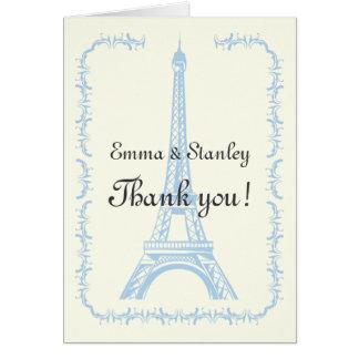 Paris, das hellblauen Eiffelturm wedding ist, Karte
