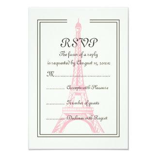 Paris, das rosa Eiffel-Turm auf Elfenbein Karte