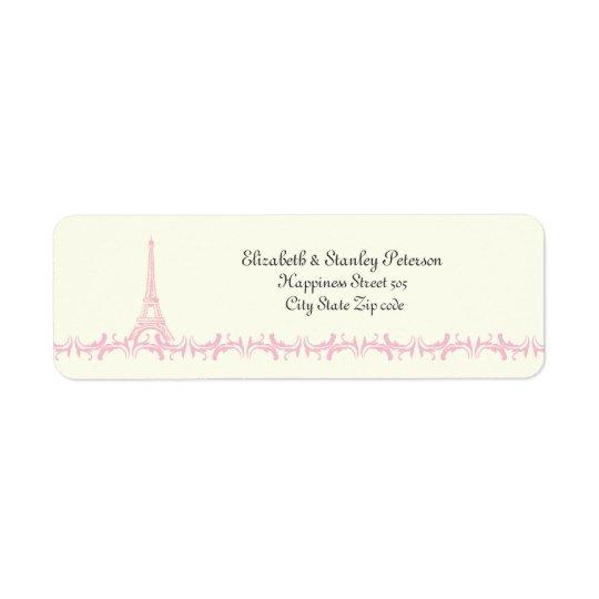 Paris, das rosa Eiffelturmelfenbeinaufkleber