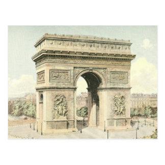 Paris, der Arc de Triomphe Postkarte