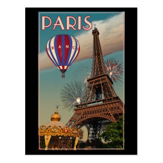 Paris - der Eiffelturm Postkarte