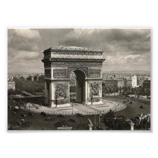 Paris der Vintage Arc de Triomphe 1943 Foto
