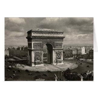 Paris der Vintage Arc de Triomphe 1943 Karte