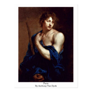 Paris durch Anthony Van Dyck Postkarte