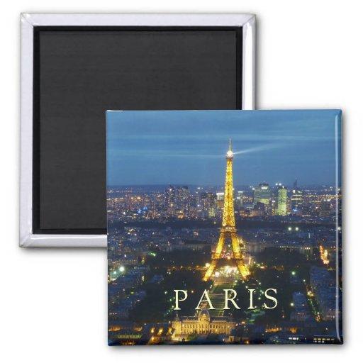 Paris durch Nachtmagneten Kühlschrankmagnet