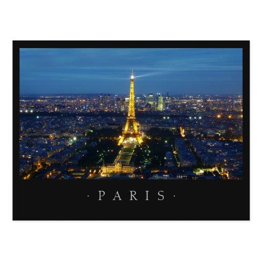 Paris durch Nachtpostkarte Postkarten