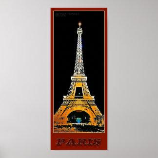 Paris-Eiffelturm - 03 - Reise-Plakat Poster