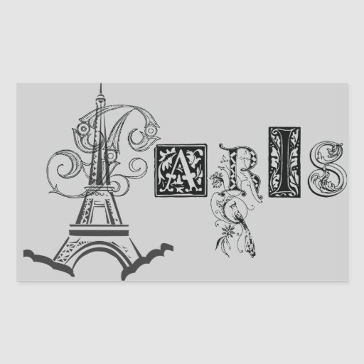 Paris-Eiffelturm Rechteckige Sticker