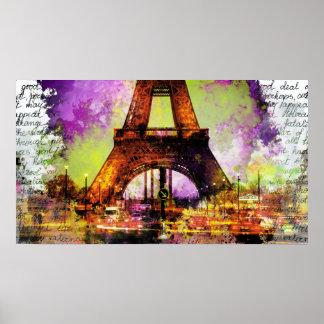Paris Eiffelturm, Eiffel Tower, Sketchbook Poster