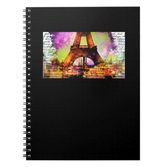 Paris Eiffelturm, Eiffel Tower, Sketchbook Spiral Notizblock