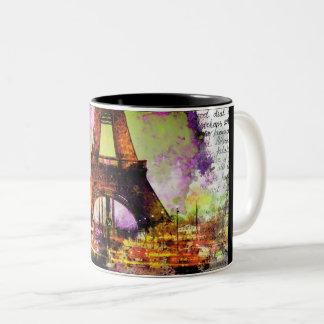 Paris Eiffelturm, Eiffel Tower, Sketchbook Zweifarbige Tasse