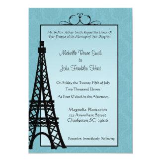 Paris-Eiffelturm-Hochzeits-Einladungen