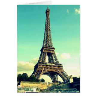 Paris/Eiffelturm Notecard (freier Raum) Karte