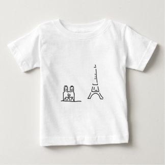 paris eiffelturm notre dame baby t-shirt