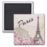Paris - Eiffelturm Quadratischer Magnet