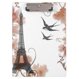 Paris-Eiffelturm Romanceklemmbrett Klemmbrett
