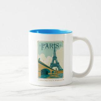 Paris Frankreich - Eiffelturm Zweifarbige Tasse